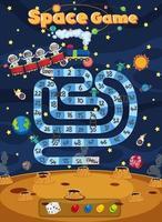 jogo de tabuleiro para crianças em modelo de estilo de espaço sideral vetor