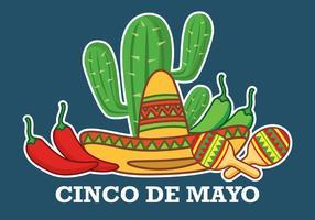 Fundo De Cinco De Mayo vetor