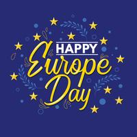 Feliz Dia da Europa Template vetor