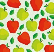 fundo padrão de maçãs vetor