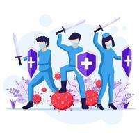 lutar contra o conceito de vírus vetor