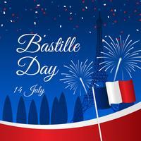 Vetor do dia da Bastilha