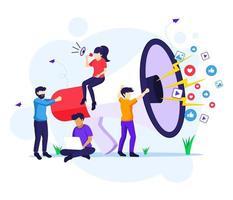 conceito de campanha de estratégia de marketing
