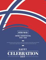Dia norueguês do cartaz da libertação vetor