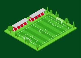 Vetor isométrico de campo de futebol