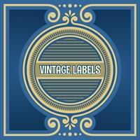 Vetor de quadro de círculo de rótulos vintage