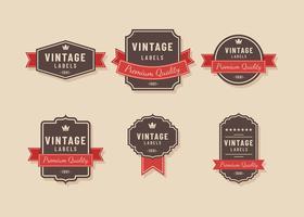 Vetor de rótulo vintage marrom