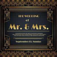 Vetor de cartão de convite de casamento