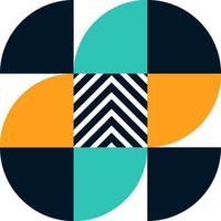 desenho abstrato de padrão bauhaus. projeto de padrão vetorial em estilo escandinavo para pacote de marca, banner, apresentação de negócios, papel de parede, postagem de mídia social e impressão em tecido. vetor