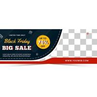 banner de grande venda para a temporada de sexta-feira negra vetor
