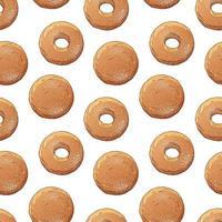 padrão de donuts decorado com açúcar de confeiteiro vetor