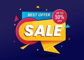 melhor oferta de banner de venda para compras online vetor