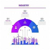 infográfico de negócios industriais com opções coloridas vetor