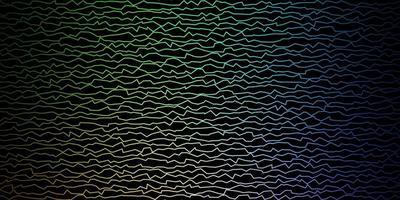 fundo escuro do vetor multicolor com linhas irônicas.
