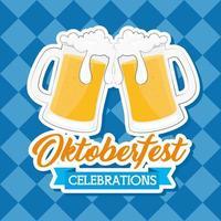 banner de celebração da oktoberfest com cerveja