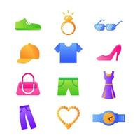 elementos do vetor de ícone de acessórios de moda