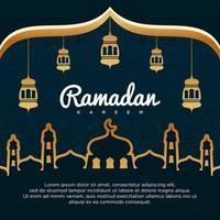 fundo do vetor ramadan kareem