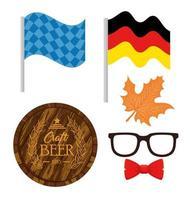 conjunto de ícones para a celebração do festival oktoberfest vetor
