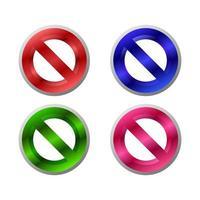 conjunto de sinais de proibição vetor