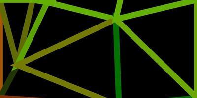 projeto do mosaico do triângulo do vetor verde escuro e amarelo.