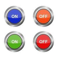 conjunto de botões em fundo branco vetor