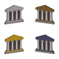 conjunto de banco isométrico vetor