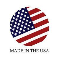 fabricado nos EUA vetor