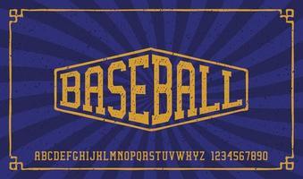 um alfabeto esportivo com efeito grunge vetor