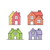 ilustração vetorial de casas e residências vetor