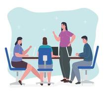 conceito de trabalho em equipe com pessoas em uma reunião