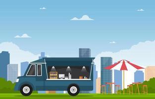 caminhão de comida na rua da cidade