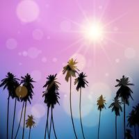 Paisagem de palmeiras vetor