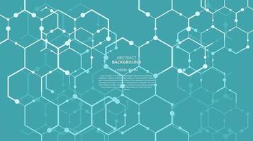 abstrato plano de fundo de tecnologia de ciência vetor