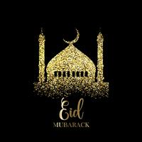 Fundo de glitter eid mubarak vetor
