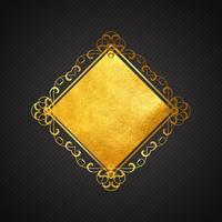 Ouro e fundo preto vetor