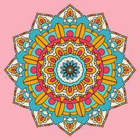Desenho de fundo colorido mandala vetor