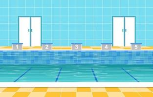 piscina com pistas e marcadores de pista vetor