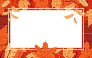 borda decorativa da temporada de outono com folhas vermelhas e amarelas vetor