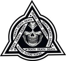 letreiro militar com caveira em triângulo, camisetas grunge vintage design