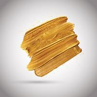 Traços de tinta dourada vetor