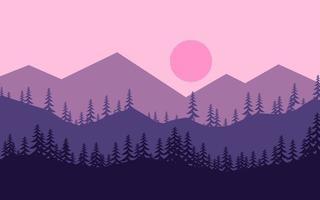 bela paisagem plana de montanha
