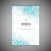 Brochura de negócios com design de pontos de meio-tom vetor