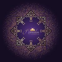 Fundo decorativo do Ramadã com confete vetor