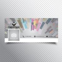 Design de capa de cronograma de mídia social vetor