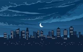 ilustração vetorial cidade à noite vetor