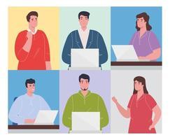 pessoas trabalhando, conceito de trabalho em equipe