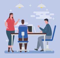 pessoas com laptops, conceito de trabalho em equipe