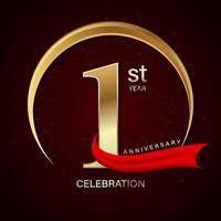 projeto de celebração de aniversário de primeiro ano vetor