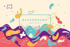 cartaz de onda de verão fest de música eletrônica. panfleto de festa do clube. gradientes abstratos acena o fundo da música. vetor