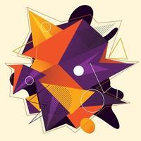 poster de arte minimalista de geometria com forma e figura simples. projeto de padrão de vetor abstrato em estilo escandinavo para banner da web, apresentação de negócios, pacote de branding, impressão de tecido, papel de parede